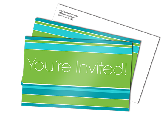 flat card invitations
