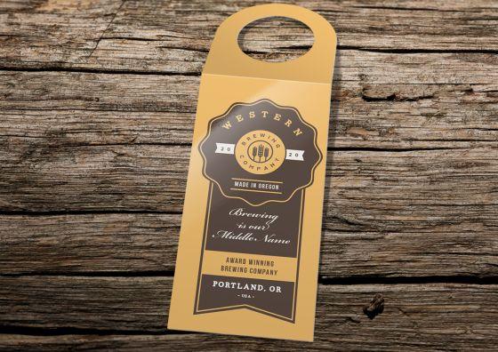 custom brewing company bottle hanger