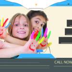 blue-babysitting-flyer-kids-fingers-front
