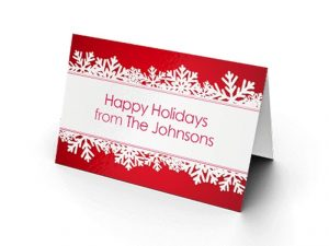 custom holiday folded cards