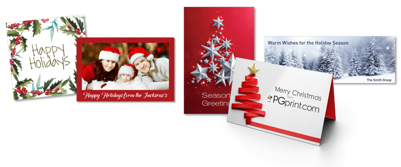 Holiday card printing services pgprint showcase a family photo share a personal message or choose from one of our many holiday themed templates ideal for personal or corporate greetings m4hsunfo