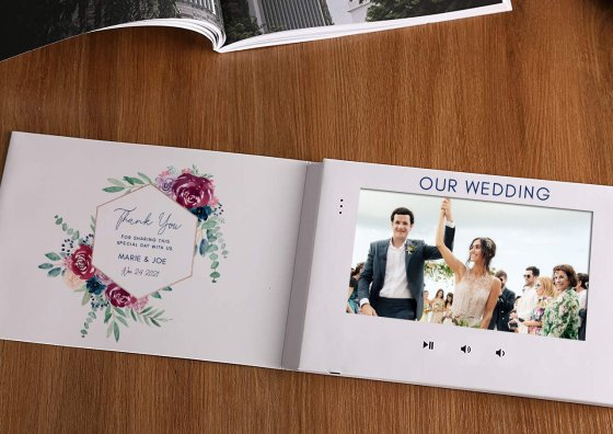 wedding theme video brochure