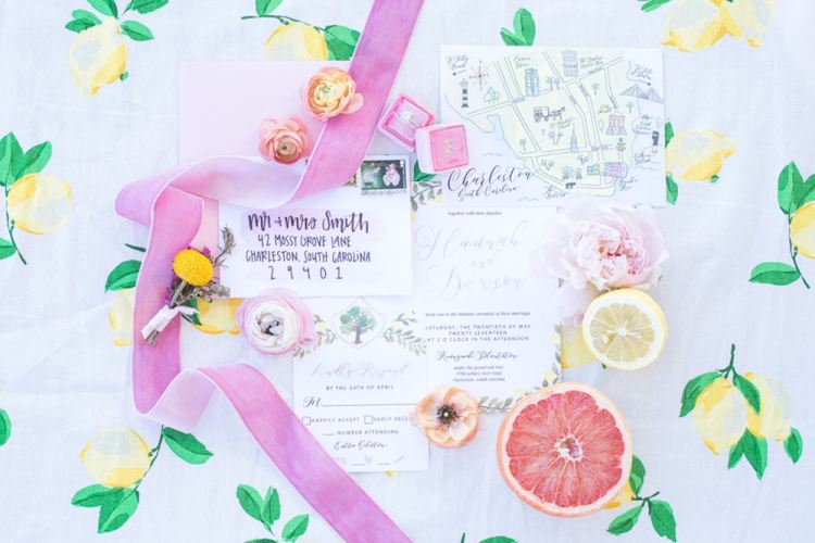fruit theme wedding invitations