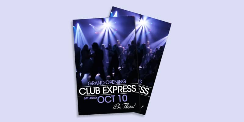 nightclub flyers