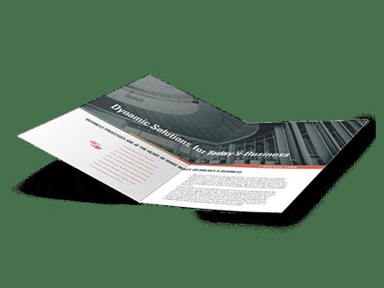 custom half-fold brochures