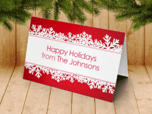 custom folded holiday cards