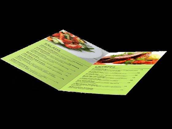 custom menu half fold