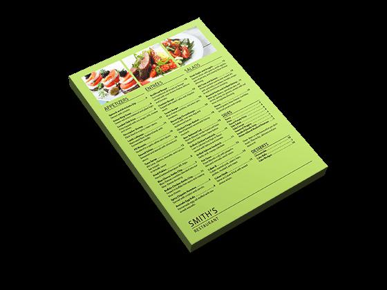 custom flat menus