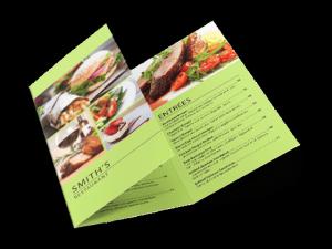 custom trifold menu