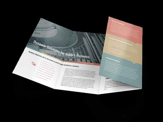 custom roll-fold brochures printing