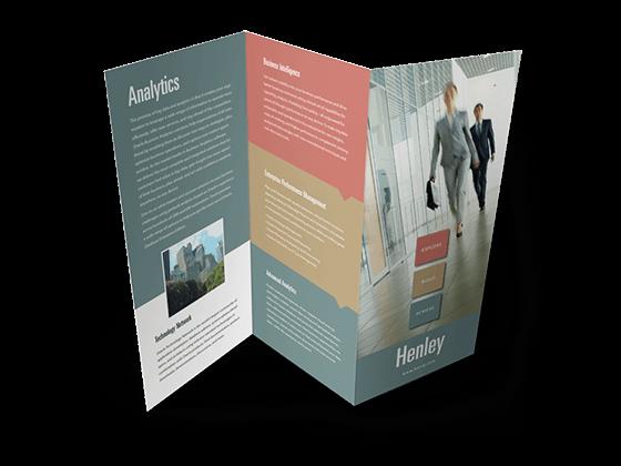 z-fold brochures printing