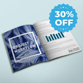 blue booklet with sale sticker