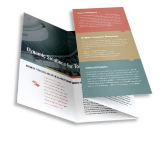 double parallel brochure custom printing service