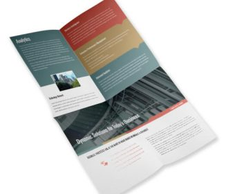 french fold brochure custom printing service