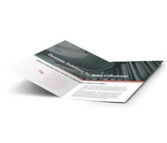 half fold brochure custom printing service