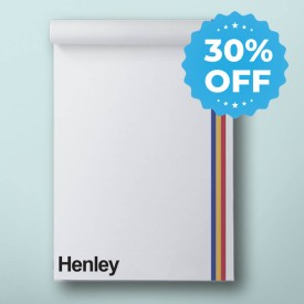 small notepad with sale sticker