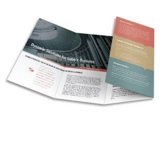 roll fold brochure custom printing service