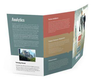 tri fold brochure custom printing