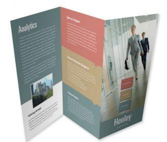 z fold brochure custom printing service