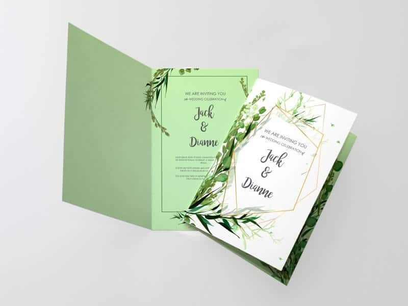 custom folded invitation cards
