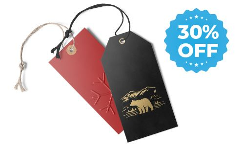 30% off sale for hang tags