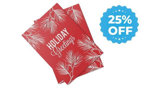 25% off sale for holiday cards