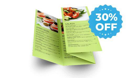 30% off sale for menus