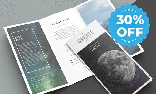 brochures 30 percent off sale