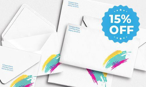envelopes 15 percent off sale
