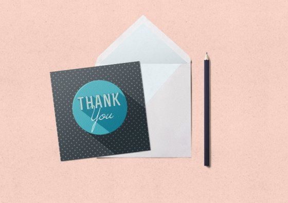 flat thank you cards pastel