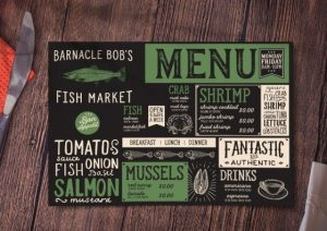 custom placemat wooden board