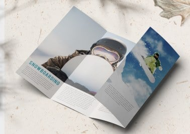 double parallel fold brochure