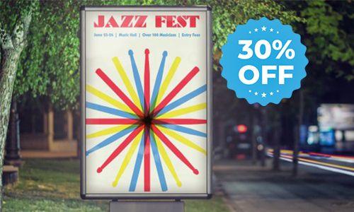 poster 30% off starburst