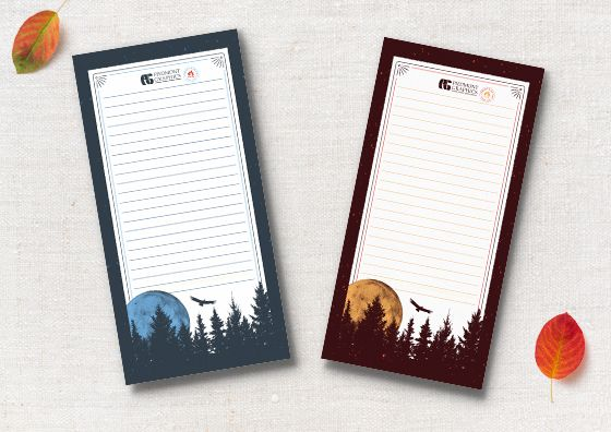 fall color custom notepads