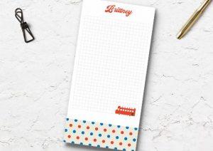 custom dots notepads