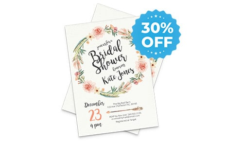 30% off sale for invitational cards