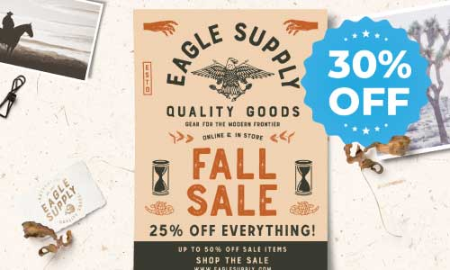 30% off sale for flyers