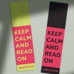 keep calm and read on custom bookmarks