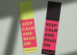 keep calm and read on custom bookmarks