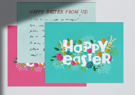 happy easter flat holiday cards