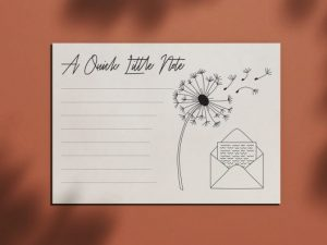 simple notecard design