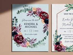 colorful save the date cards