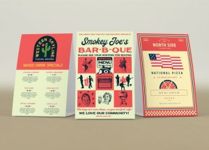 custom barbecue table tents