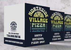 custom pizza folded holiday card