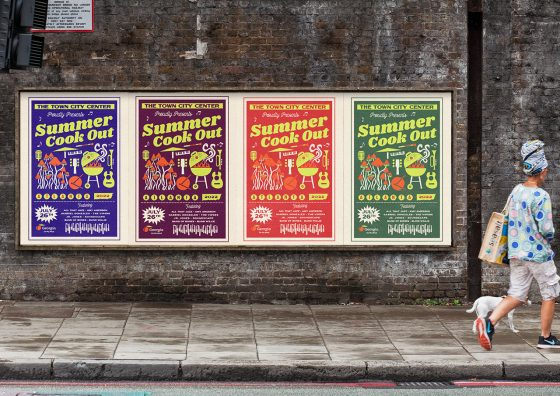large format posters summer theme