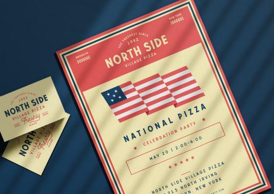 custom leaflets national pizza theme