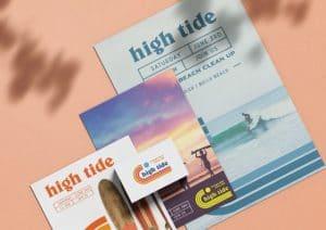 custom leaflets beach theme