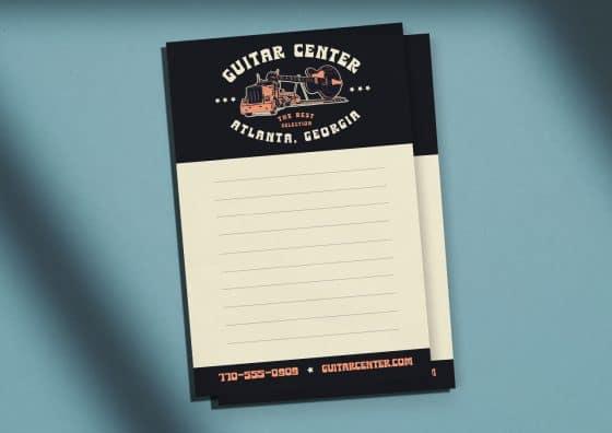 guitar center custom notepad