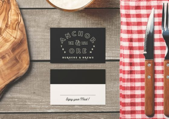 place cards burgers and brews