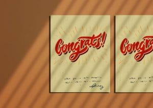 congrats flat greeting card